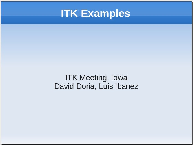Introduction to the ITK Examples Wiki – daviddoria com
