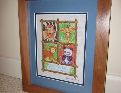 Apple Wood Frame with Redheart Splines
